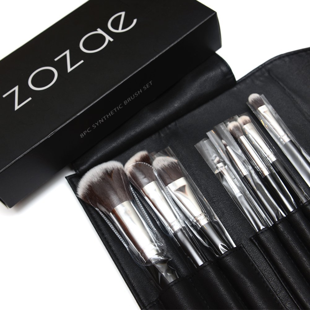 Zozae Kabuki Makeup Brushes Kit with Organizer Case and E...