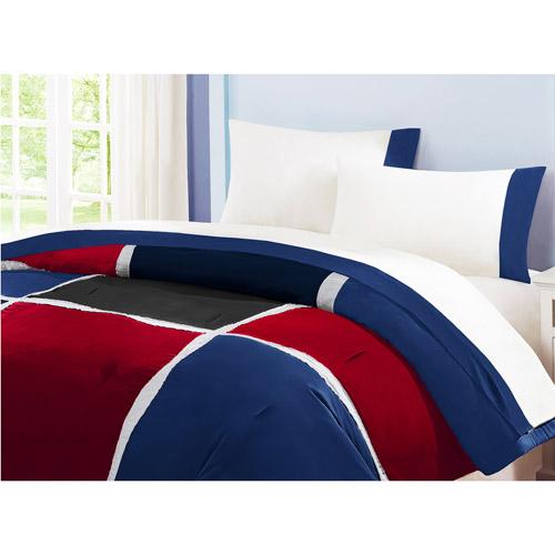 Grid Red Comforter