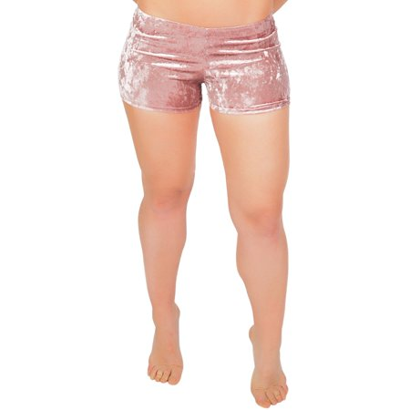 Women's Velvet Booty Shorts - Medium (4-6) / Mauve