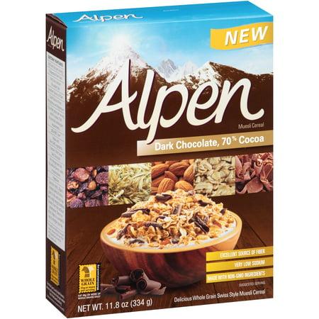 Image of Alpen Dark Chocolate 70% Cocoa Muesli Cereal 11.8 oz. Box