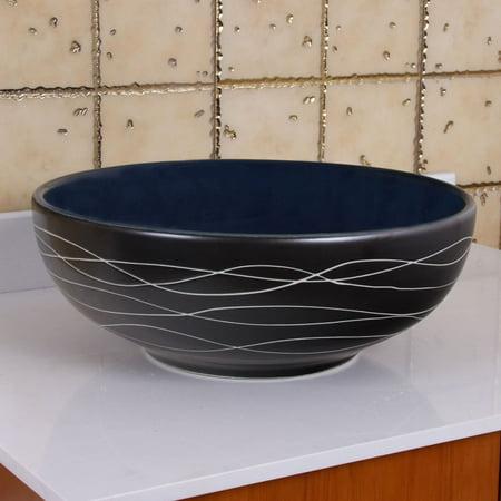 - ELIMAX'S  2021 Sapphire Glaze Porcelain Ceramic Bathroom Vessel Sink