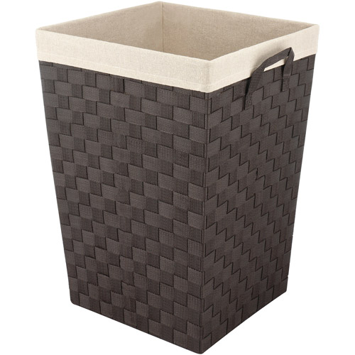 Whitmor Woven Strap Hamper with Liner Espresso, Multiple Shapes