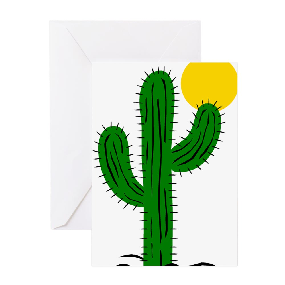 CafePress - Cactus116 Greeting Cards - Greeting Card, Blank Inside Glossy