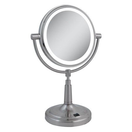 Zadro Led Lighted 5x 1x Satin Nickel Vanity Mirror