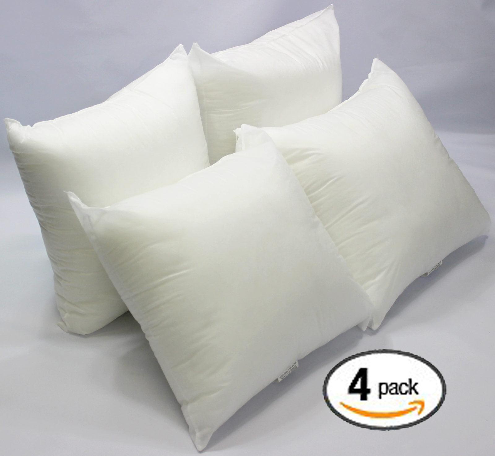 Set of 2-20 x 20 Premium Hypoallergenic Stuffer Pillow Insert Sham Square Form