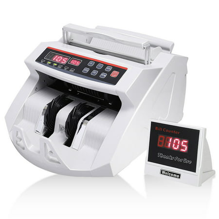 Costway Money Bill Counter Counting Machine Counterfeit Detector UV & MG Cash