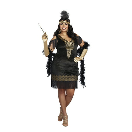 Dreamgirl Women's Plus-Size 1920's Swanky Flapper (1920's Flapper Girl Costume)