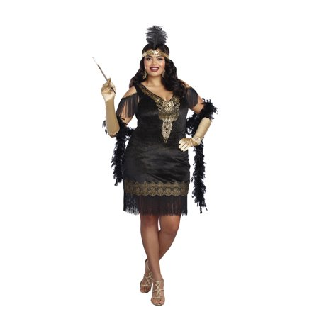 Dreamgirl Women's Plus-Size 1920's Swanky Flapper Costume