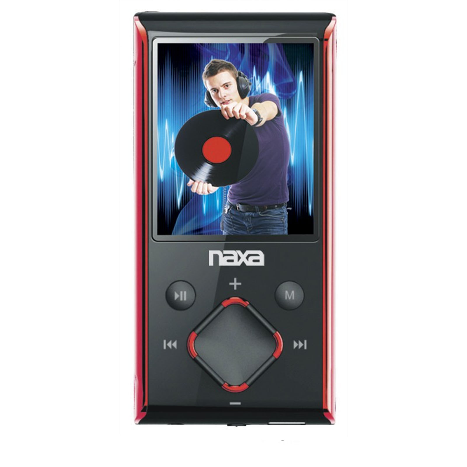 "Naxa Portable 8GB Media Player with 1.8"" LCD Screen- Red"