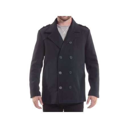 3e3b8782ae Alpine Swiss - Alpine Swiss Jake Mens Pea Coat Wool Blend Double Breasted  Dress Jacket Peacoat - Walmart.com