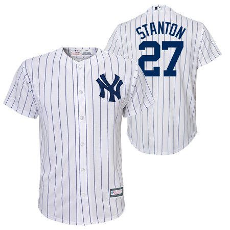 quality design 85eac 4dc3f Giancarlo Stanton New York Yankees Majestic Youth Cool Base Replica Player  Jersey - White