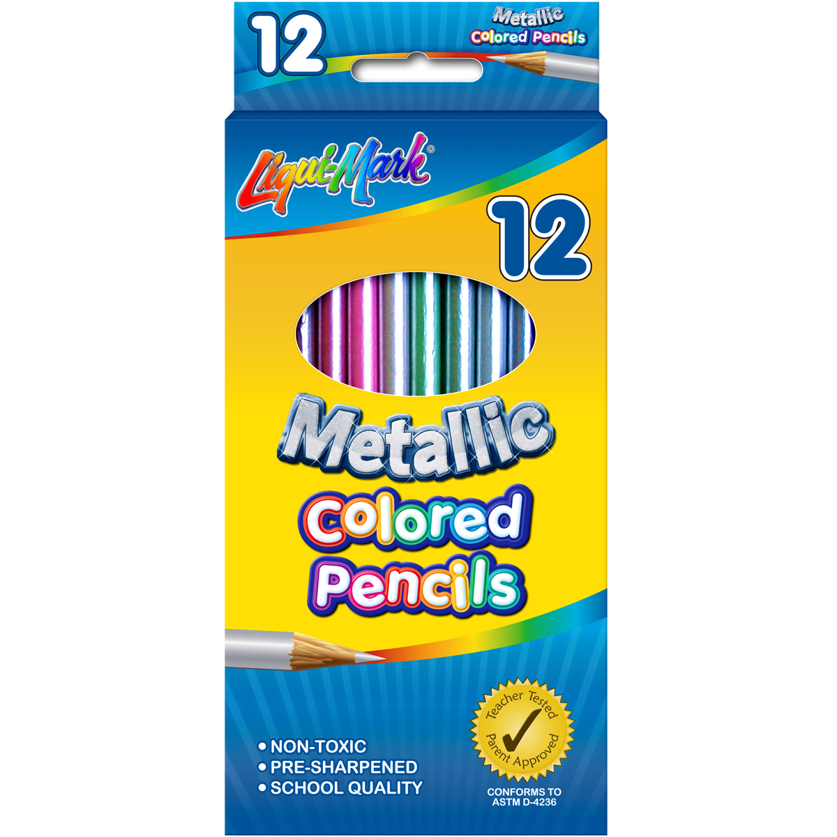 Liqui-Mark Colored Pencils 12/Pkg-Metallic