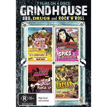 Grindhouse - Sex, Drugs & Rock 'n Roll (7 Films) - 4-DVD Set ( Rock Baby - Rock It / Teen Mania / High School Caesar / Naked Youth / Prehistoric Women / Spies-a-Go-Go / Barn of the Naked Dead ) (](Halloween Film Barn)