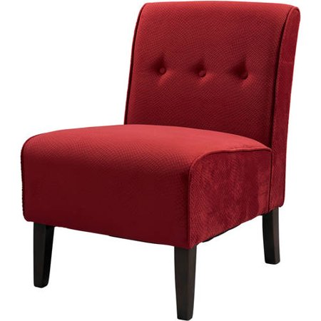 Linon Coco Accent Chair Red 18 Inch Seat Height