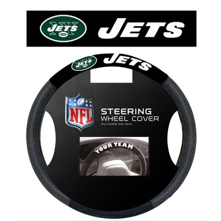 New York Jets Tire Cover (Fremont Die, Inc. New York Jets Poly-Suede Steering Wheel Cover Steering Wheel)