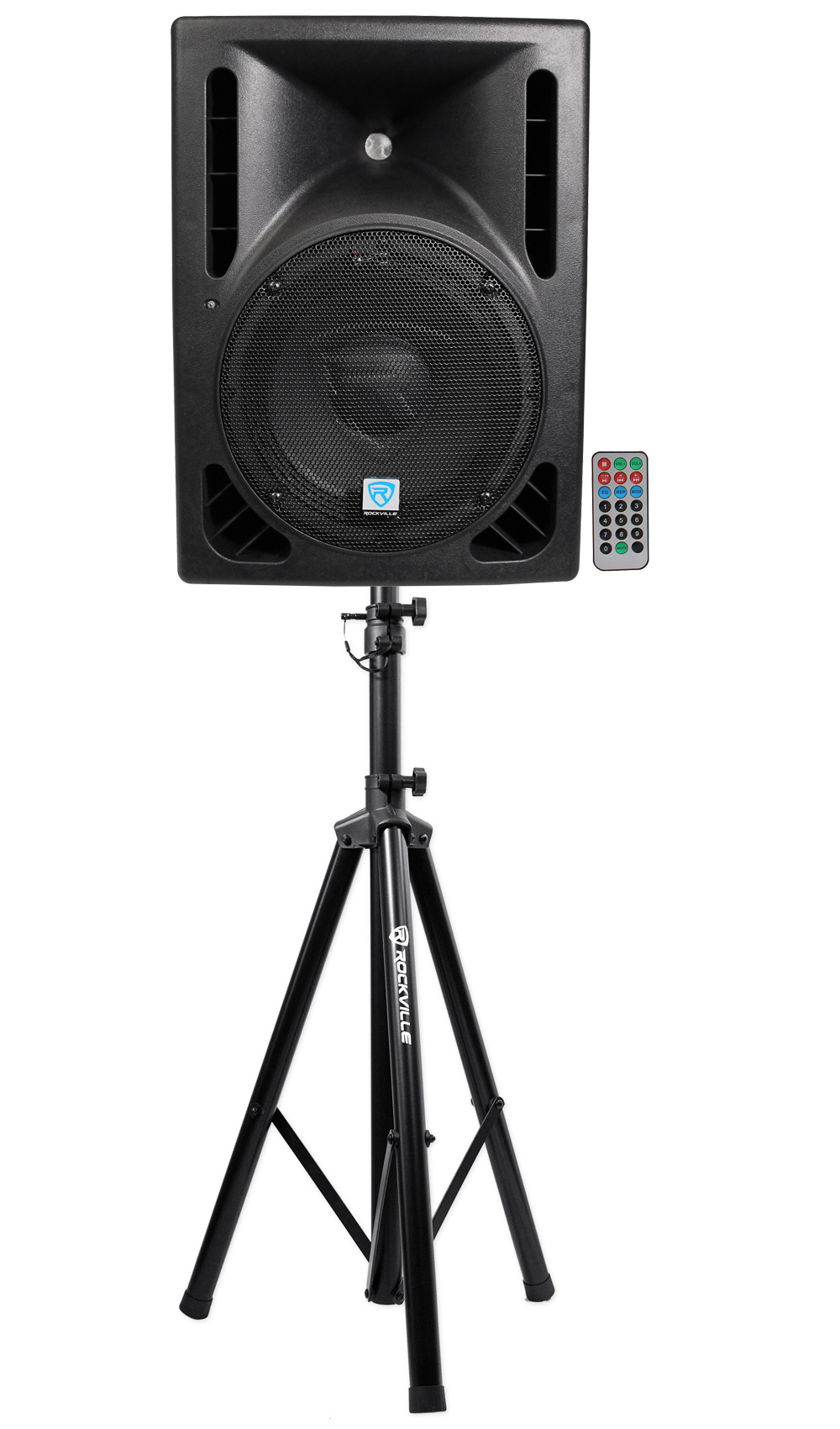 "Rockville RPG10BT 10"" Powered 600W DJ PA Speaker BlueTooth,USB,SD,Remote + Stand by ROCKVILLE"