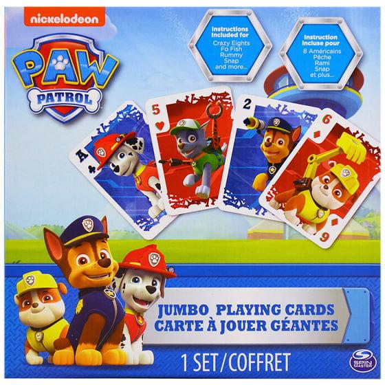 Paw Patrol Jumbo Playing Cards Walmart
