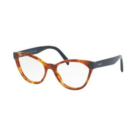 PRADA Eyeglasses PR02TV 4BW1O1 Medium Havana (Prada Frames For Men)
