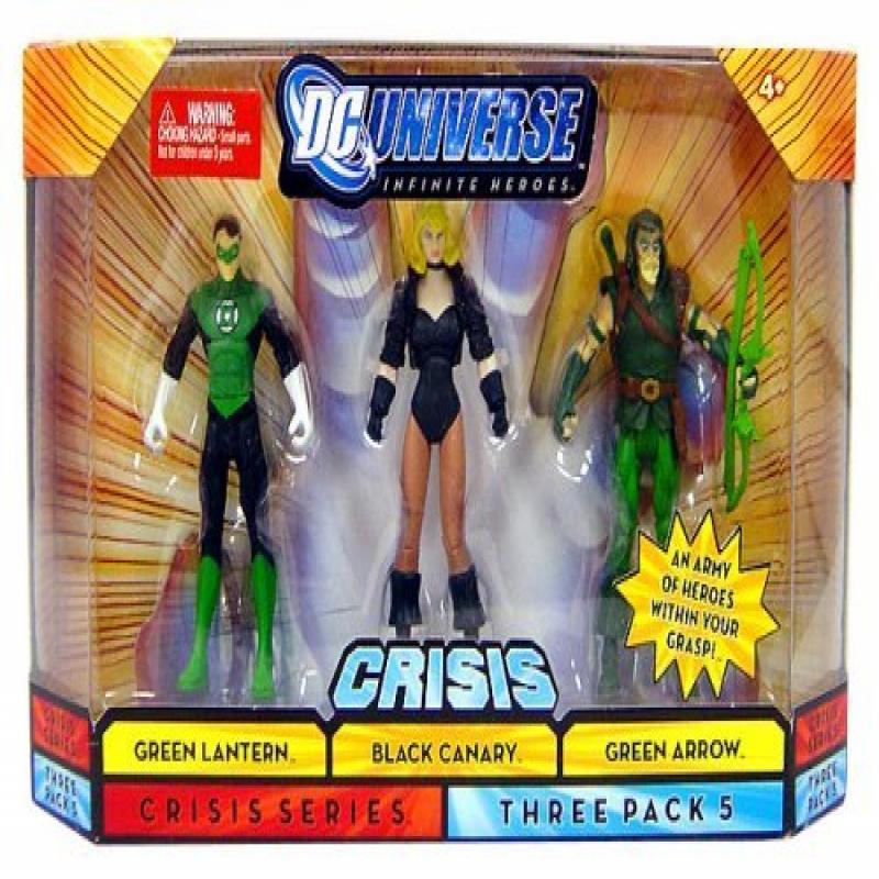 DC Universe Infinite Heroes Crisis Series pack of 3 figures #5 - Green Lantern (Hal Jordan), Black Canary, Green Arrow