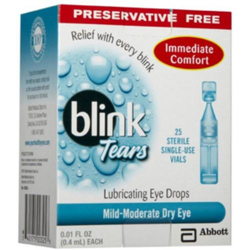 blink Tears Lubricating Eye Drops MildModerate Dry Eye 25 Each Pack