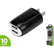 Cellet 10-Watt/2.1-Amp Dual USB Home Charger, Black