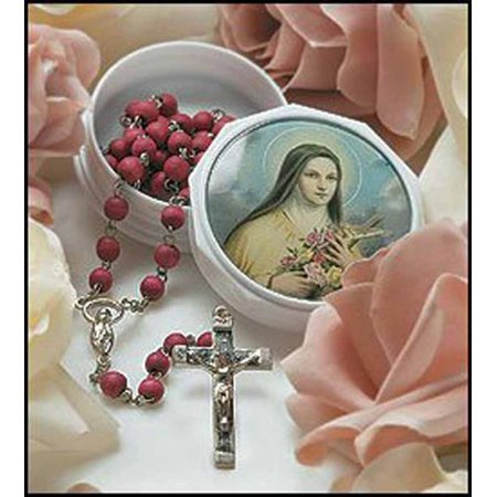 St. Therese Rose Petal Rosary in - Therese Rose