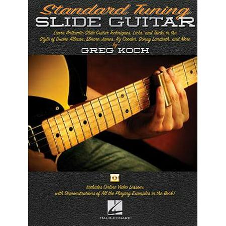 Standard Tuning Slide Guitar : Book with Online Video Lessons Slide Guitar Book