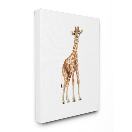 The Kids Room by Stupell Happy Baby Giraffe Illustration Oversized Stretched Canvas Wall Art, 24 x 1.5 x 30