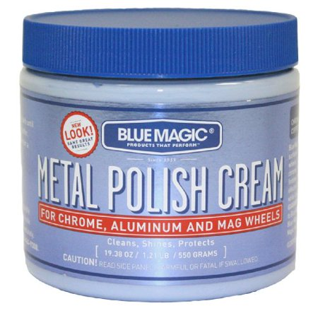 Metal Polish Cream (550g) for Chrome Aluminum & Mag Wheels by Blue