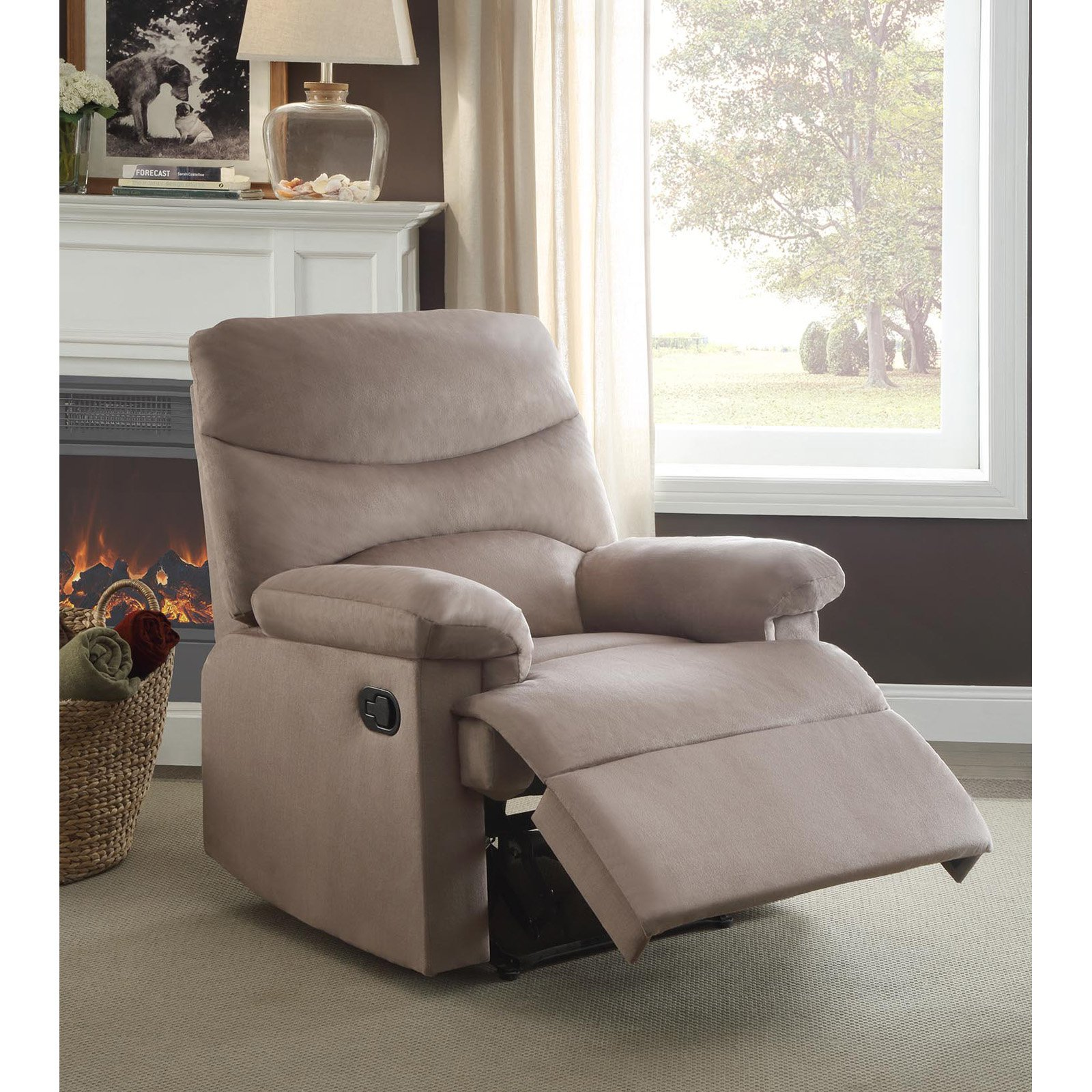 ACME Arcadia Recliner, Blue Woven Fabric by Acme Furniture