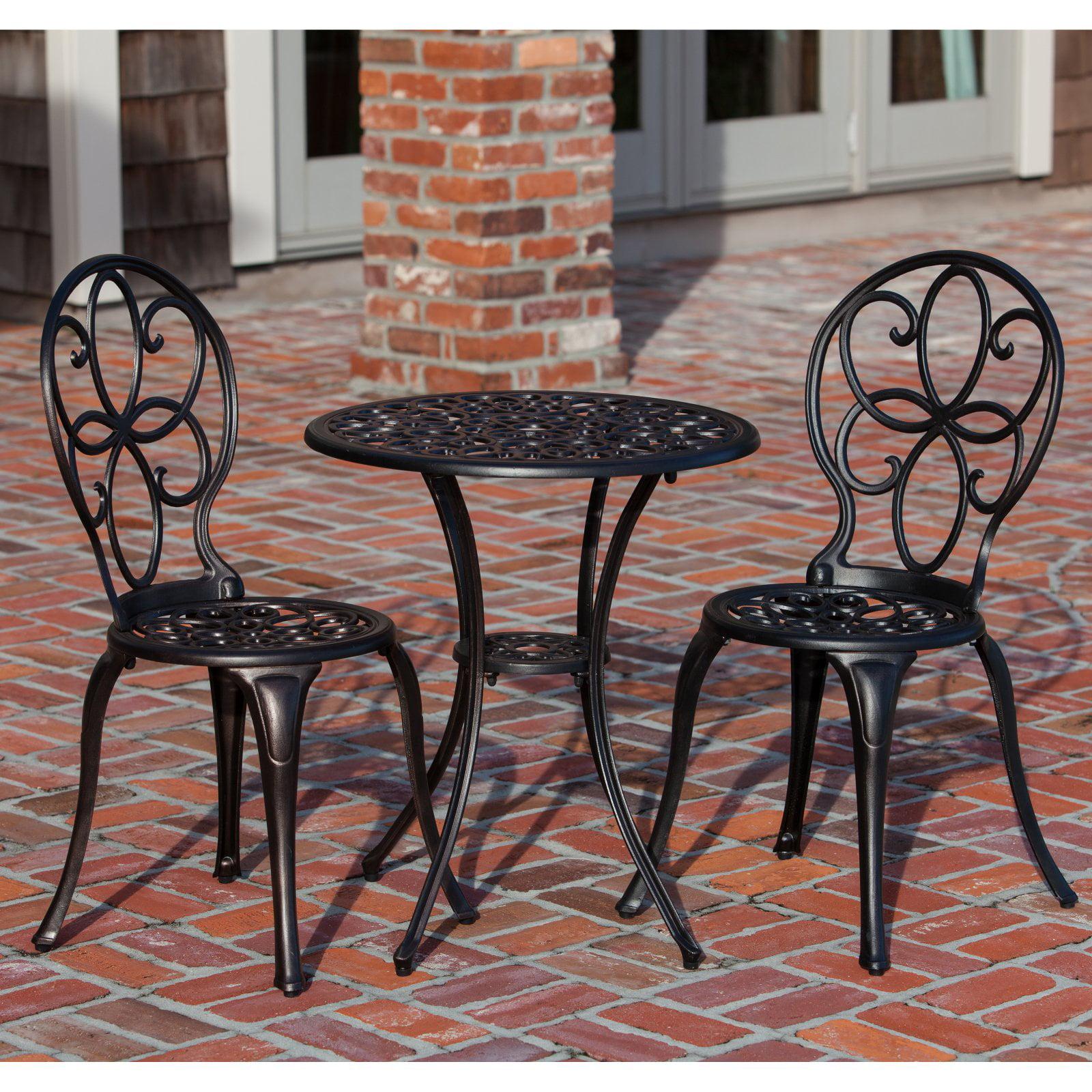 Patio Sense Antique Bronze Cast Aluminum 3-Piece Outdoor Bistro Set