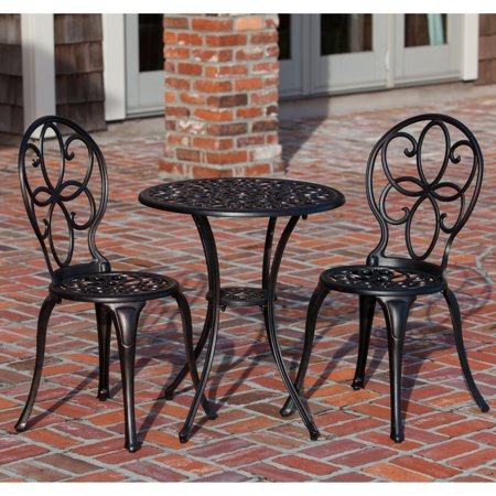 Patio Sense Antique Bronze Cast Aluminum 3-Piece Outdoor Bistro (Bistro Set Three Piece Bronze)