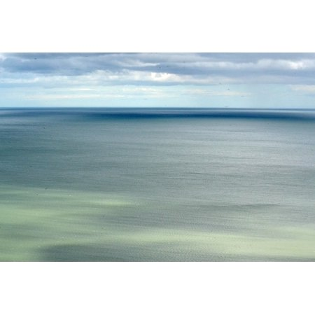 Canvas Print Calm Ocean Water Sea Blue Sky Tranquil Peaceful Stretched Canvas 10 x 14