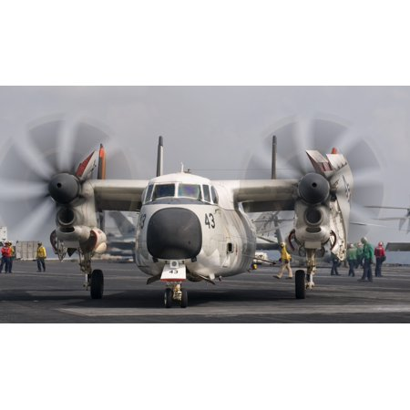 A C 2A Greyhound Aboard Uss George Hw Bush Canvas Art   Giovanni Collastocktrek Images  19 X 11