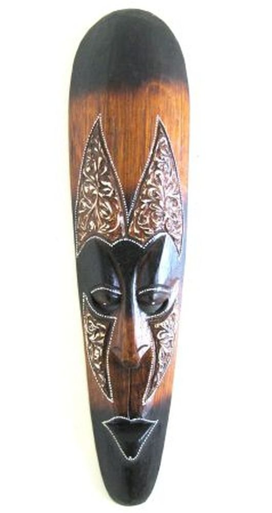African Wall Mask Decor Fire Tribal Lucky In Love Woman Oma Brand