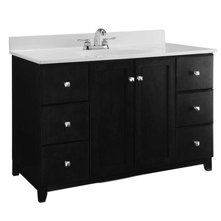 Rectangular Vanity Top (Design House 547059 Shorewood Unassembled 2-Door 6-Drawer Vanity without Top, 48