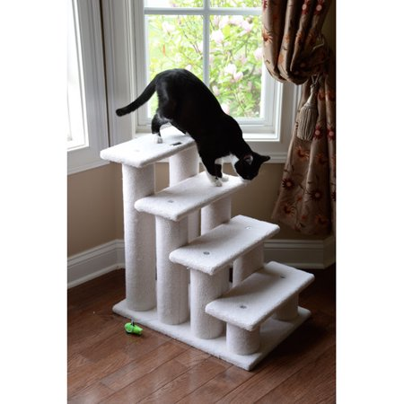 Armarkat 25 39 39 classic 4 step cat tree for Cat tree steps