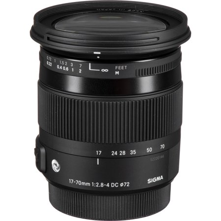 Sigma 17-70mm f/2.8-4 DC Macro OS HSM Contemporary Lens for Canon