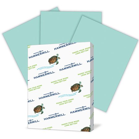 Colored Paper, Turquoise Printer Paper, 20lb, 8.5x11 Paper, Letter Size, 500 Sheets / 1 Ream, Pastel Paper, Colorful Paper (103820R) Hammermill 500 Sheet Drawer Letter
