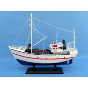 Handcrafted Nautical Decor Fine Catch Fishing Model Boat