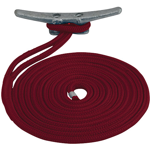 "Click here to buy Sea Dog Dock Line, Double Braided Nylon, 1 2"" x 20', Red by Sea-Dog Line."