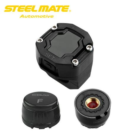 - Steelmate DIY ET-900AE TPMS for Motorcycle Tire Pressure Monitoring System with Waterproof External Sensor Wireless LCD Display