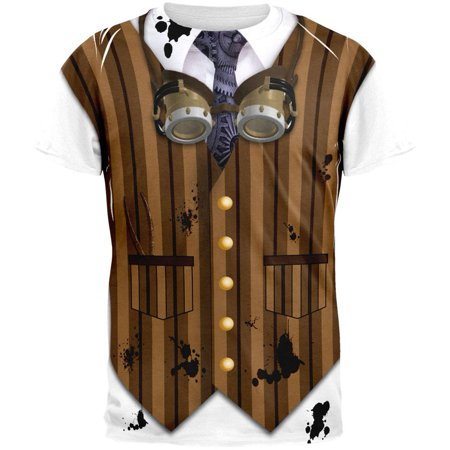 Halloween Steam Punk Engineer Costume All Over Adult T-Shirt - Steam Sales 2017 Halloween