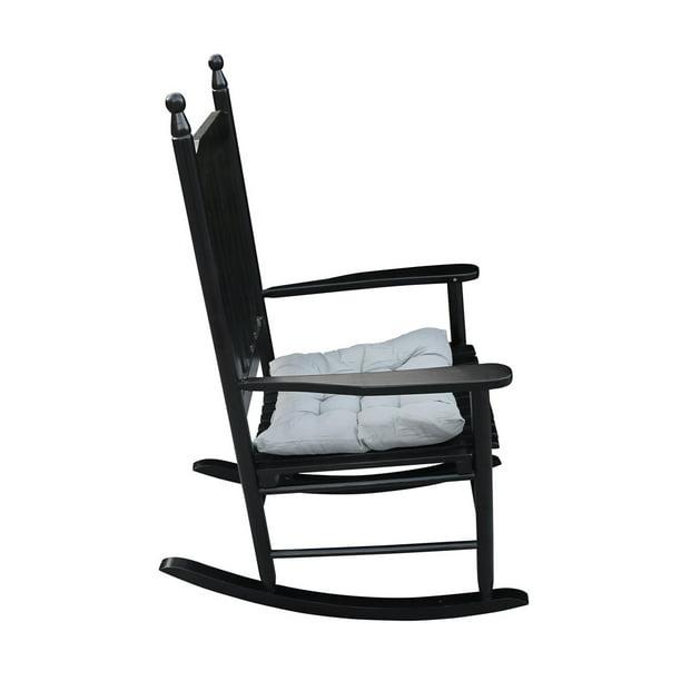 Armrest Rocker Chair For Indoor Outdoor, Wood Rocking Chair Outdoor Black