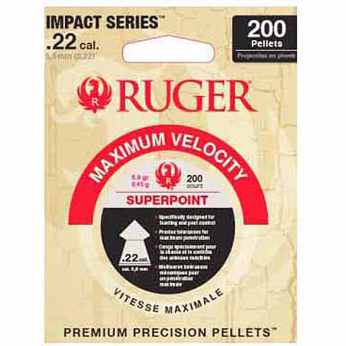 Ruger® Superpoint™ Impact Series™ .22 Caliber Premium Precision Airgun Pellets 200 ct Pack