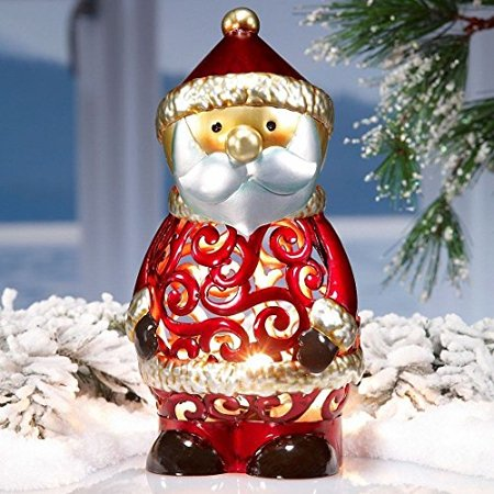 DecoFLAIR Electric Luminary Holiday Santa Figurine