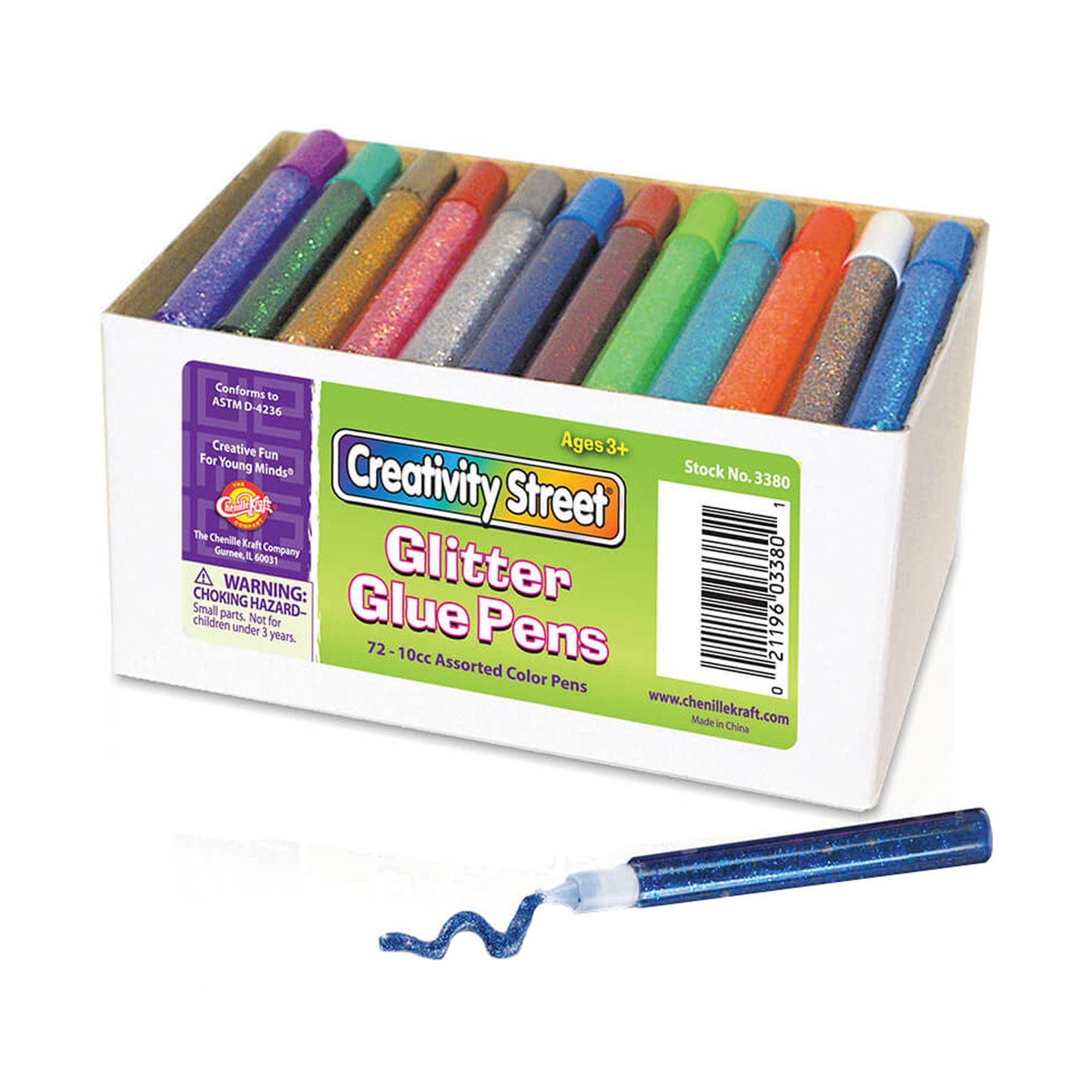 Glitter Glue Pens, Classpack, 72 assorted colors