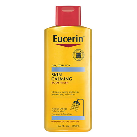 Dry Wash System - Eucerin Skin Calming Dry Skin Body Wash 8.4 fl. oz.