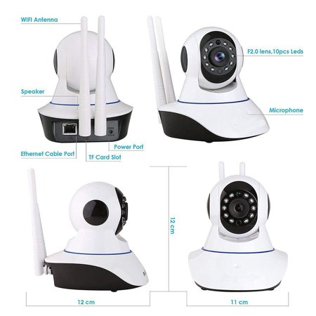 OUYAWEI V380 Cloud Storage WiFi IP Camera Premium Webcam Phone Remote  Office Night Cam U S Plug