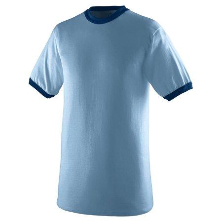 c056745fb93 Augusta Sportswear - Augusta 710 Ringer T-Shirt -Light Blue Navy-3X-Large -  Walmart.com